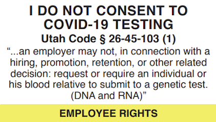 I do not consent to covid-19 testing - employee rights
